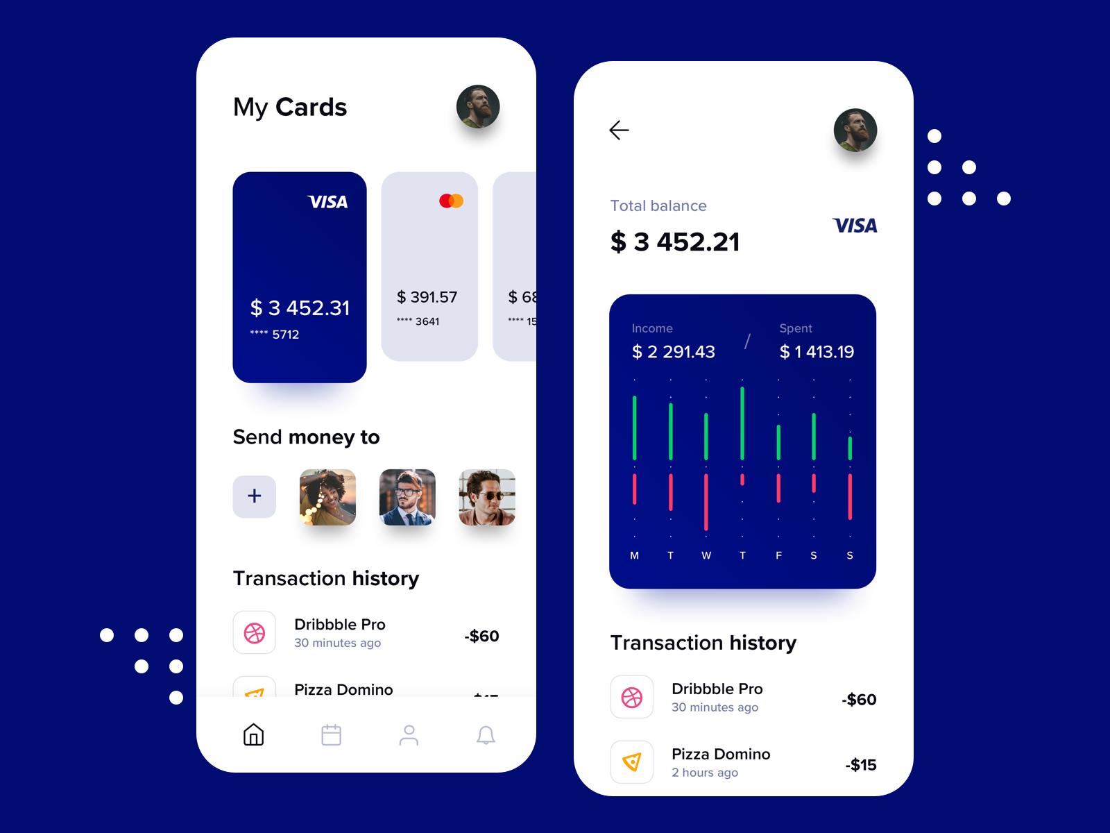 Banking & Finance App App, App design, Finance