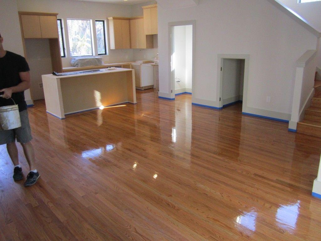 Golden Pecan On Red Oak Modenr Bungalow Hardwood Floor Refinishing Painted Concrete Floors Red Oak Hardwood Floors Hardwood Floors