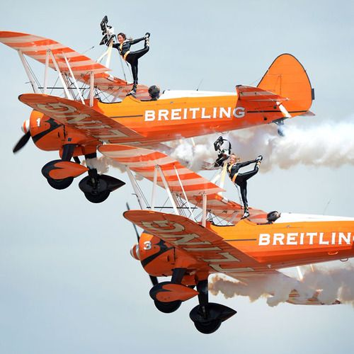 The Breitling Wingwalkers perform at the Australian International Air Show