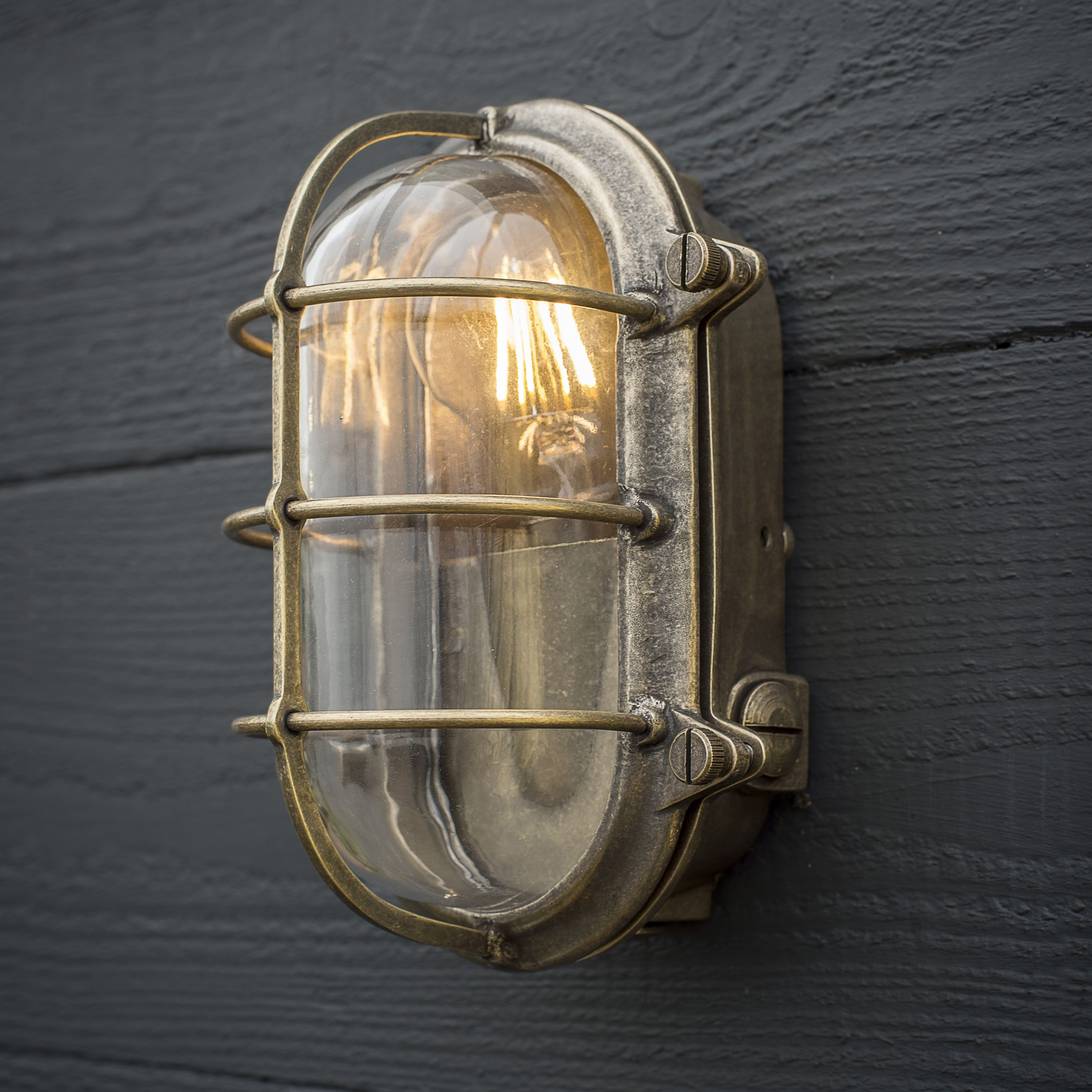 With Its Robust And Practical Styling Reminiscent Of Shipping And Days Gone By Our Bulkhead Wall Ligh Brass Outdoor Lighting Wall Lights Exterior Wall Light