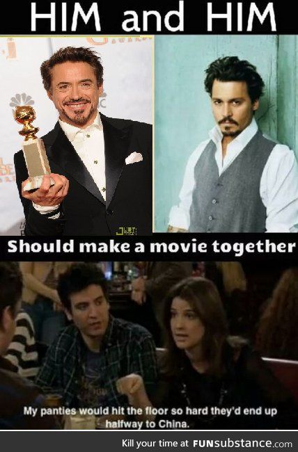 Movie with RDJ and Johnny Depp - FunSubstance