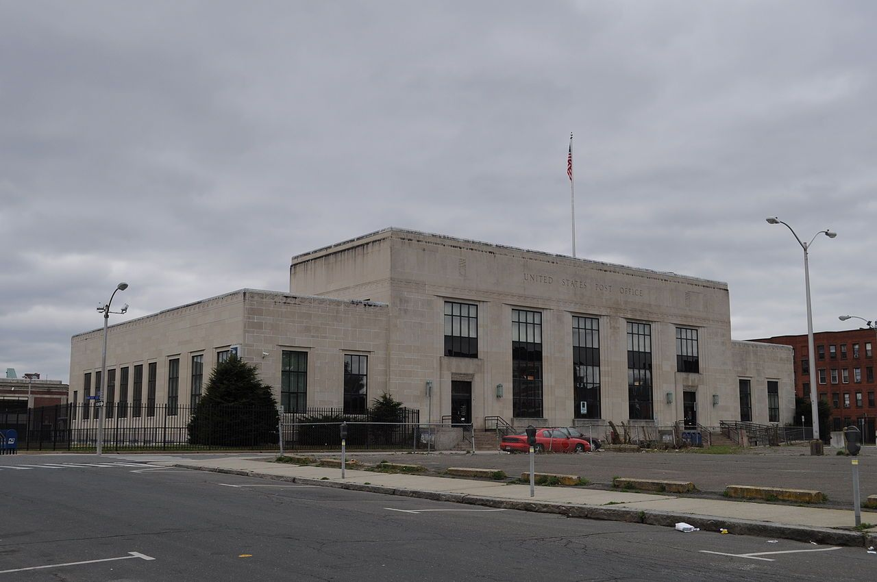 Us Post Office Holyoke Main In Hampden County Massachusetts With Images Hampden National Register Of Historic Places Holyoke Massachusetts