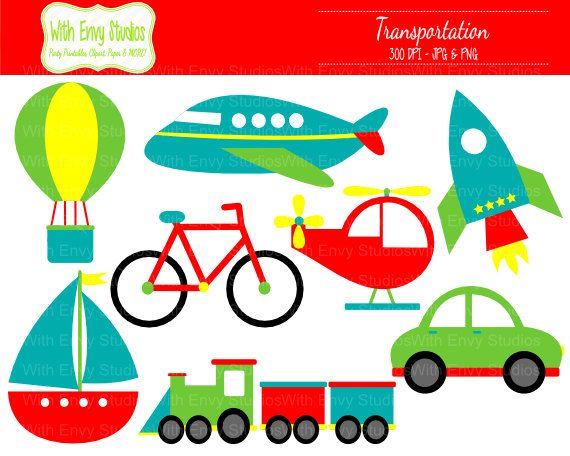 Transportation Clipart, Travel Clipart, Vehicle Clip Art