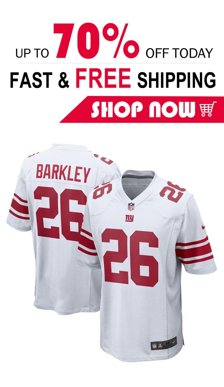 sports shoes 9fa1f a0c67 2019 的 mens Saquon Barkley New York Giants football jersey ...