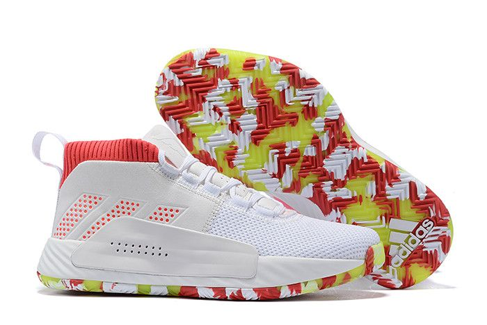 """61f4e2d0d154 2019 adidas Dame 5 """"All Skate"""" Footwear White Shock Red-Crystal White BB9312"""