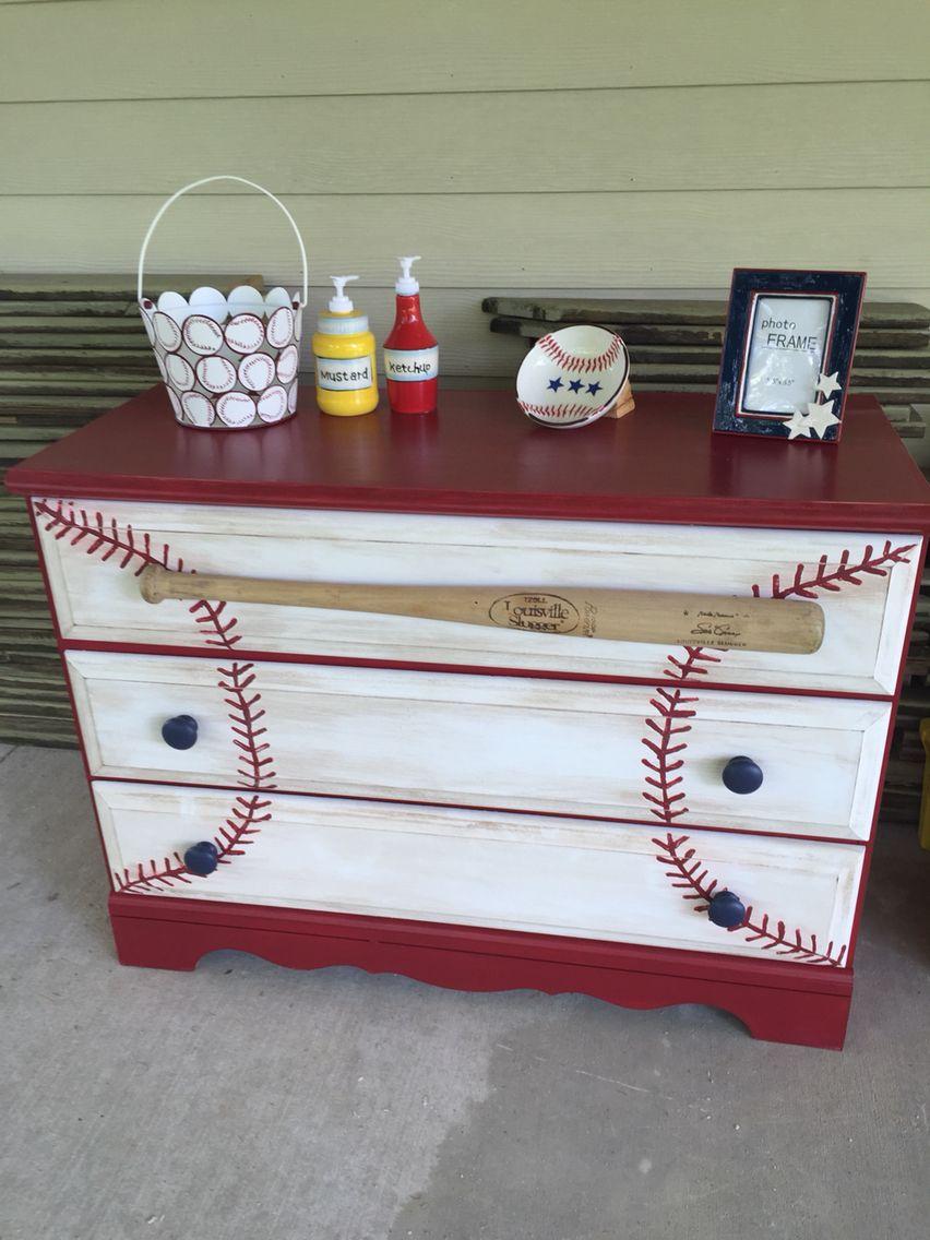 Baseball bathroom ideas - Baseball Dresser