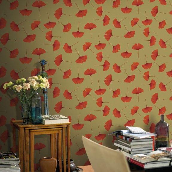 Biloba Behang Marimekko® 27027 Oranje - Hookedonwalls