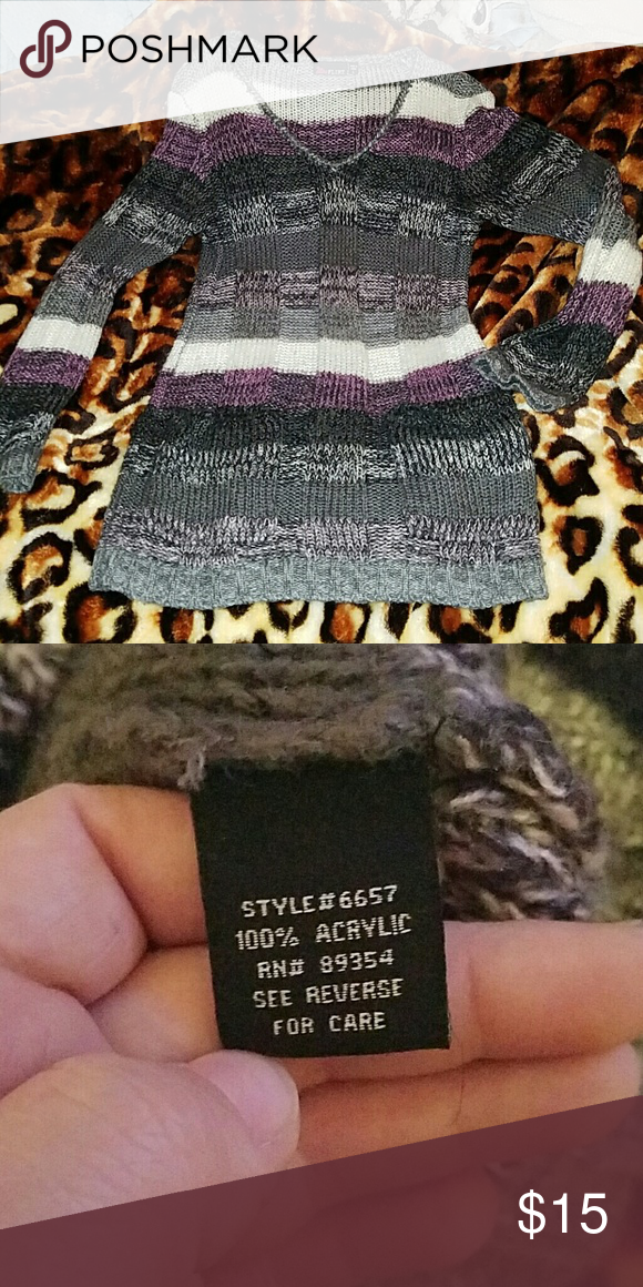 Crotchet sweater Very warm and cozy, i normally wear this with leggings and boots:) this is in excellent condition  Fits L but looks and fits best as M Sweaters