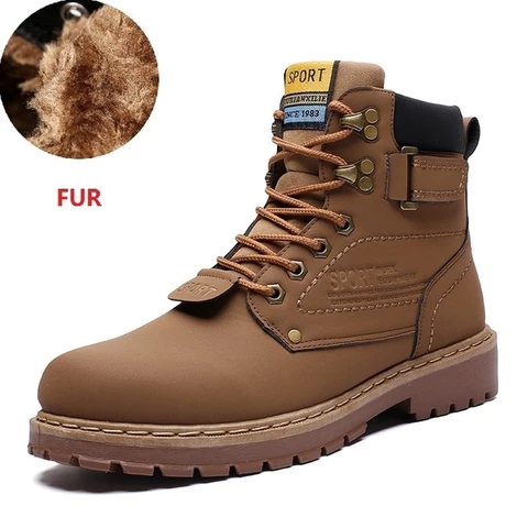 Yellow Cat Warm Snow Shoes Leather Shoe Ankle Boot | Casual