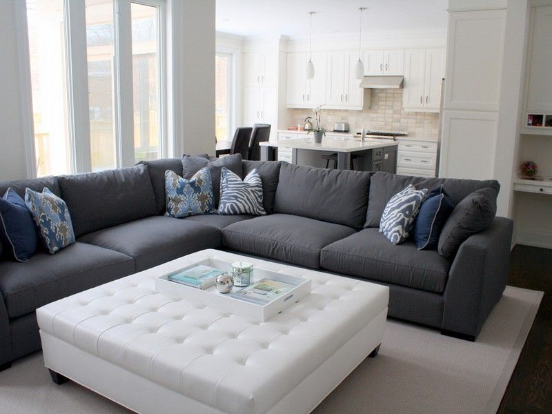 Furniture Excellent Dark Gray Sectional Sofa Simple Grey ...