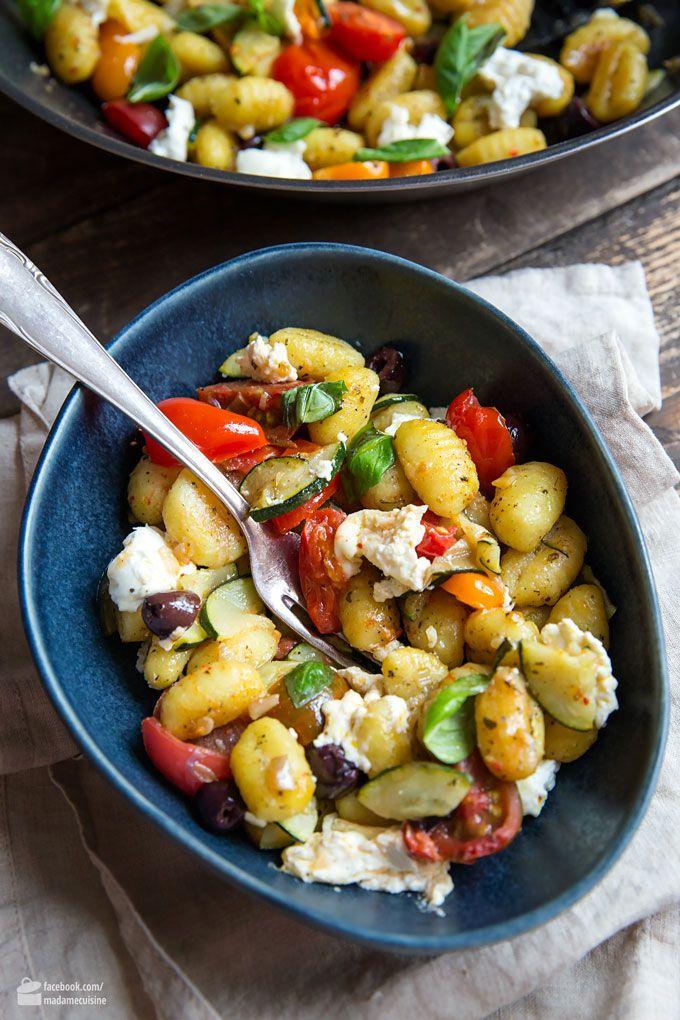Gnocchi-Pfanne mit Gemüse und Mozzarella - Madame Cuisine