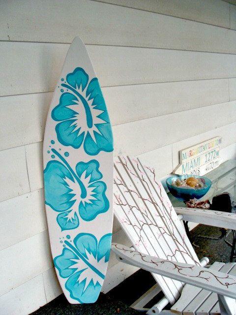 6 foot wood hawaiian surfboard wall art decor or headboard kids room wood base sign