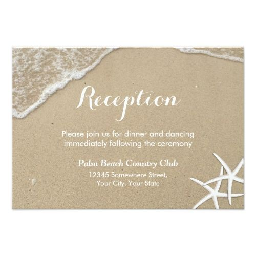 Save The Date Beach Wedding Starfish Summer Reception Card
