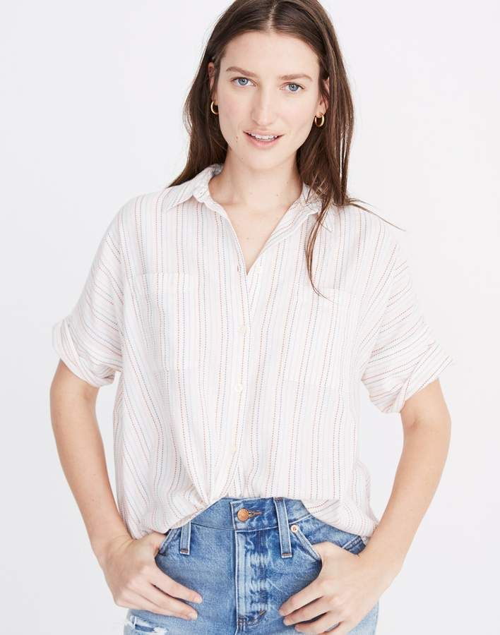 b5ca730f Madewell Courier Shirt in Stitched Rainbow Stripe in 2019 | Fashion ...