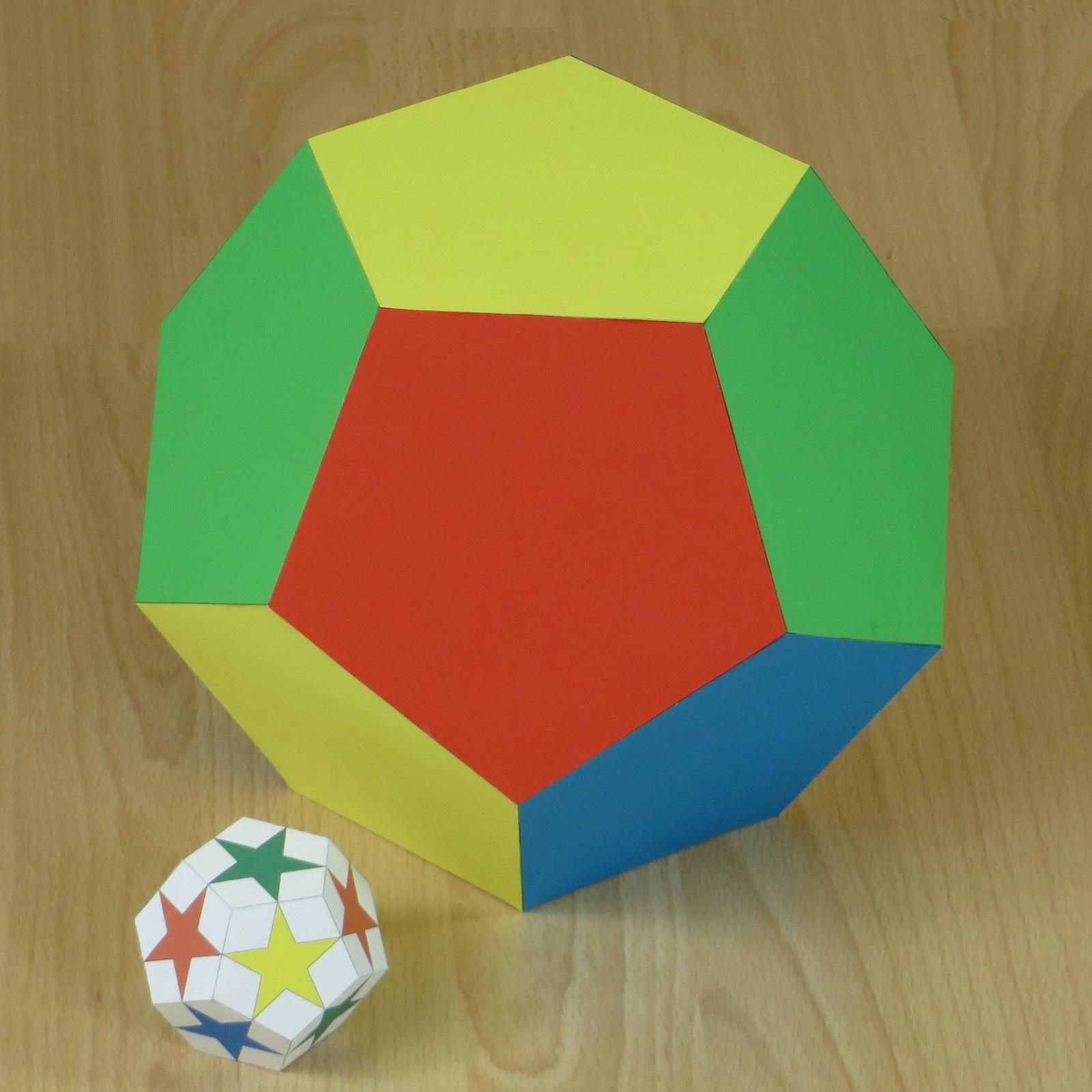 Paper Model Of A Dodecahedron Dodecahedron Summer Kids Crafts