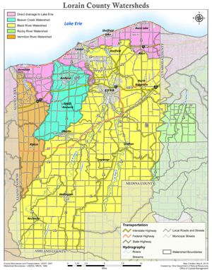 LO2 Lorain County Watersheds This map illustrates 14digit