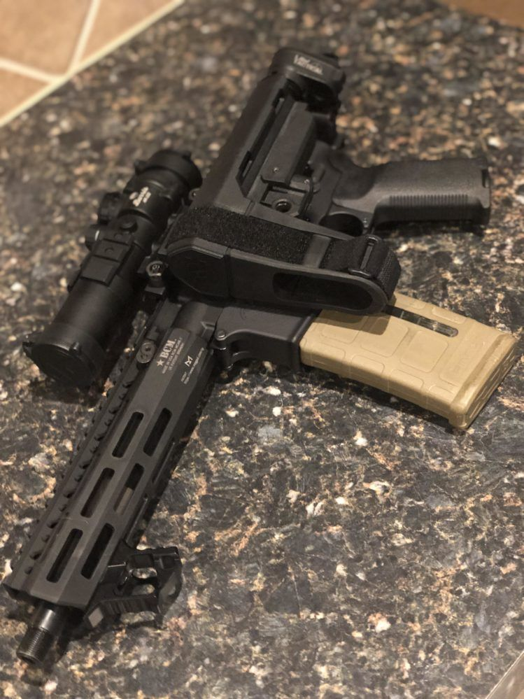 300 Blackout With Law Folder And Sba3 F That Tax Stamp Stuff This Works Great 300 Blackout Blackout Ar Build