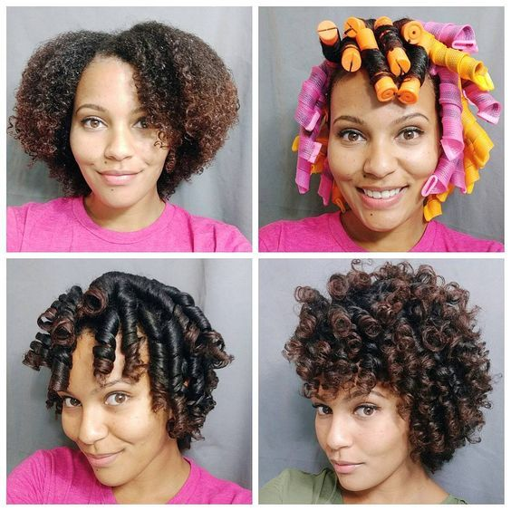 Curlformers Reviews And Styles Roller Set Natural Hair Curly