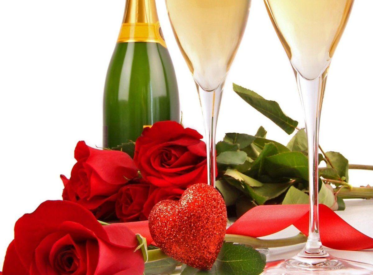 Картинки субботе, открытки с цветами и шампанским