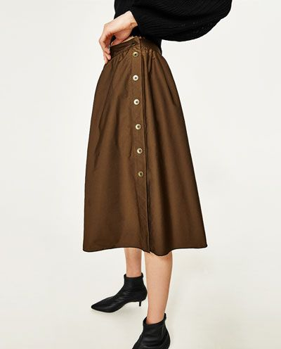 fe0699e67f Image 2 of REVERSIBLE SKIRT WITH SIDE BUTTONS from Zara | zara 4ever ...