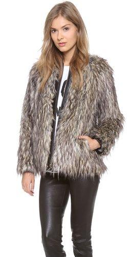 f757c0ecabd4 Nanette Lepore Vagabond Faux-Fur Jacket