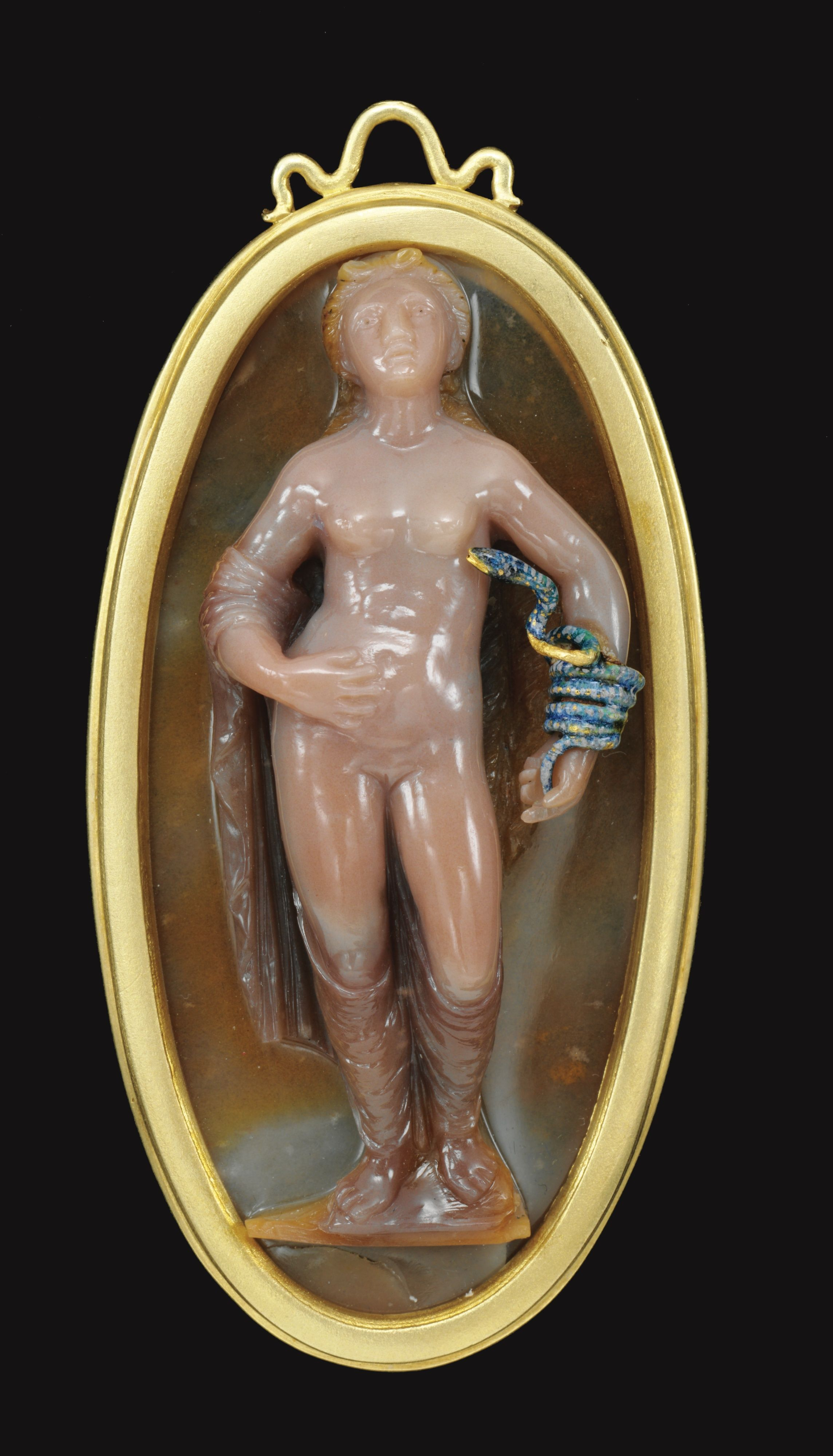 Cameo with cleopatrau attributed to ottavio miseroni