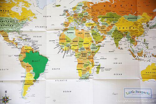 Little Passports Map - Brazil