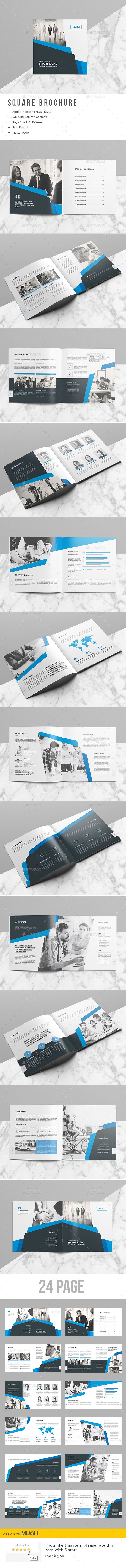 The Square Brochure Template InDesign INDD | Brochure Templates ...