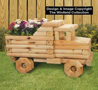 All Yard U0026 Garden Projects   Landscape Timber Dump Truck Planter Plans