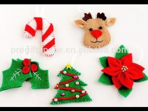 figuras de navidad de fieltro como hacer adornos de navidad youtube