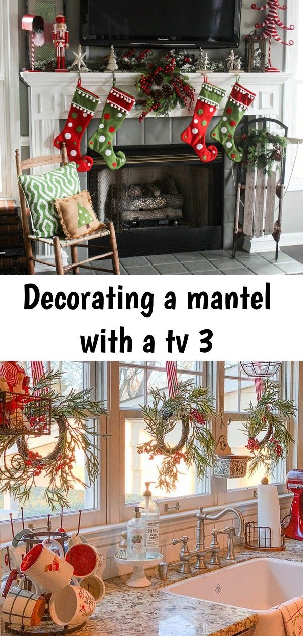 Decorating a mantel with a tv 3 One of the biggest challenges in home decorating is how to decorate your mantel with a TV. This post highlights several different ideas on how to do just that! Must pin to remember this one. - Kitchen window coverings are only one of the most sought-after elements by many housewives. People who generally love to cook or stay in the kitchen c...  Vintage Country Kitchen Collection | LTD Commodities