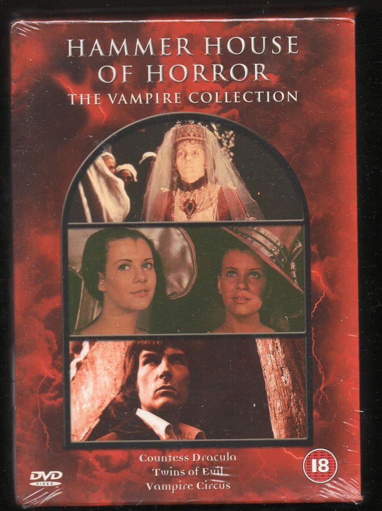 Hammer House Of Horror The Vampire Collection Triple Dvd Boxed Set New Sealed Horror House Vampire Circus Vampire