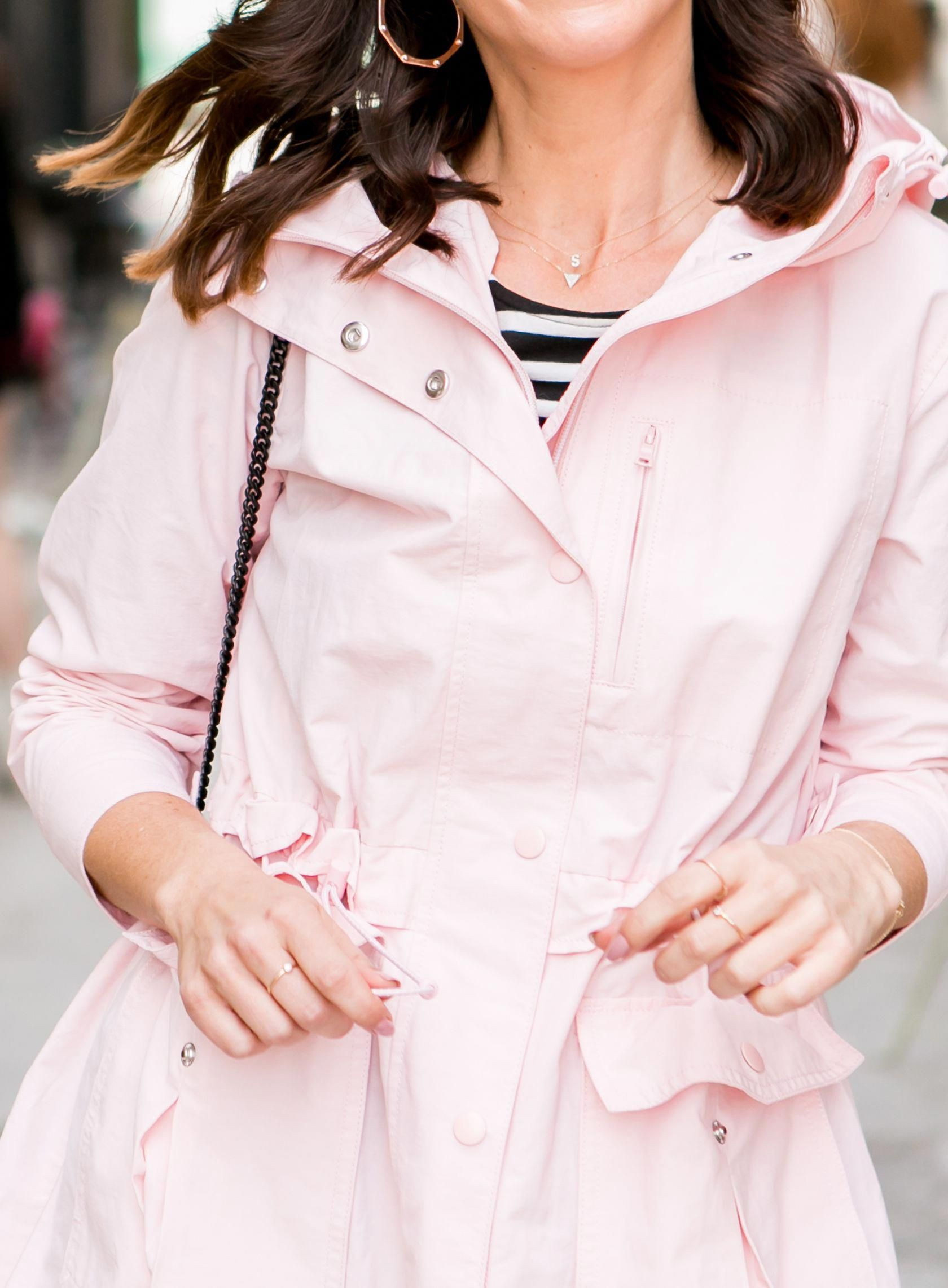 Sydne style shares the best raincoats for women online in jcrew pink