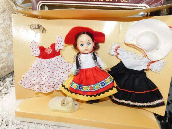 Dolls of all Nations Gift Set By Larco, Spanish Doll Set, Doll with Doll Clothes, Doll in Original B #spanishdolls