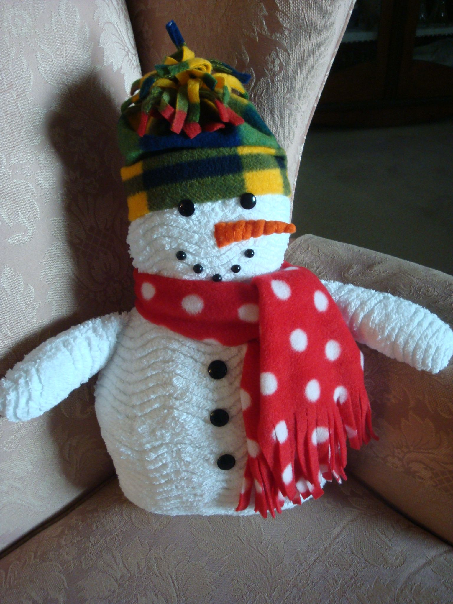 2988afcf40bf Let It Snow chenille snowman  pattern from the Gooseberry Patch ...