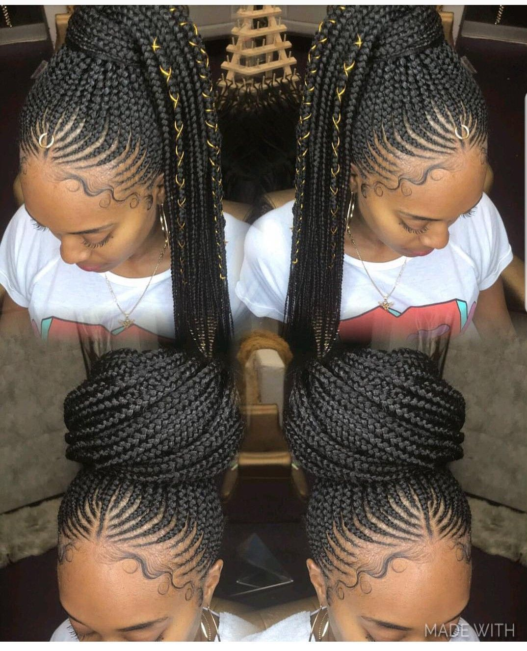 17 Gorgeous Weave Hairstyles Braided Updo To Make A Splash In Your World Box Braids Hairstyles Cornrow Hairstyles Hair Styles
