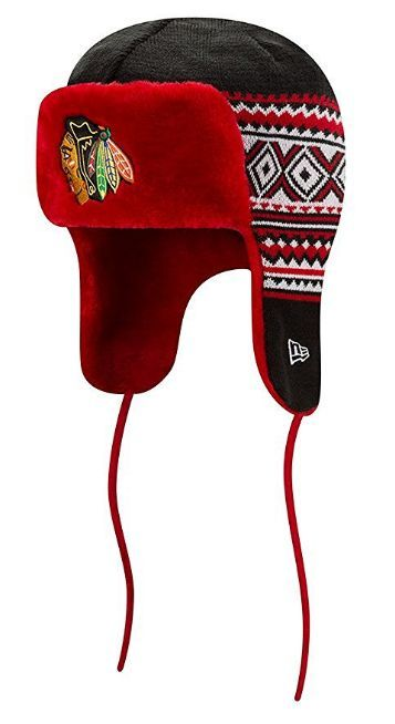"Chicago Blackhawks New Era NHL ""Team Trim Trapper"" Fur Lined Knit Hat"