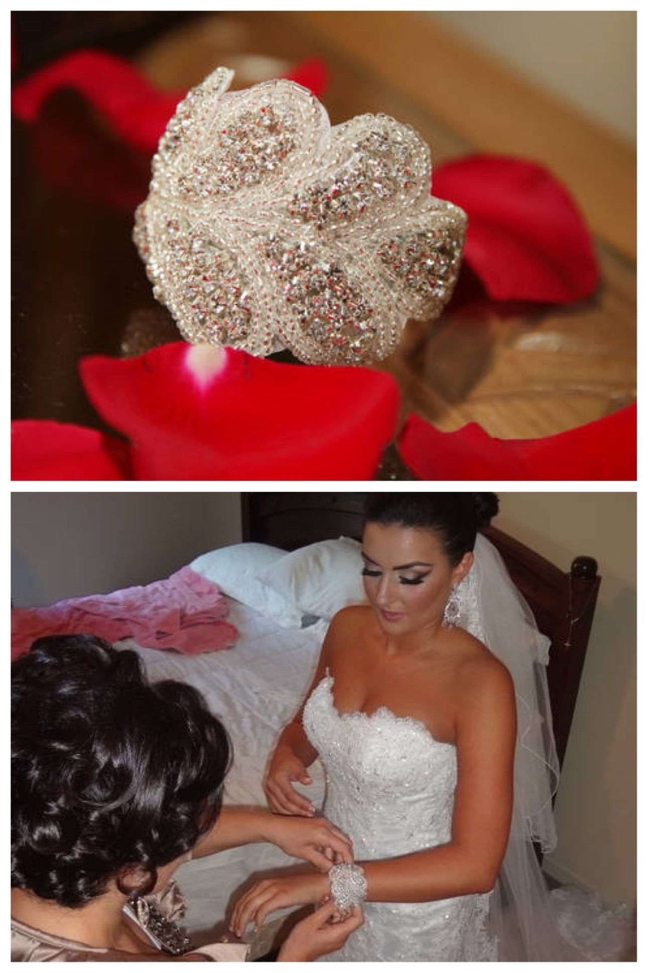 Lmo crystal bridal cuff bracelet and the beautiful bride is was