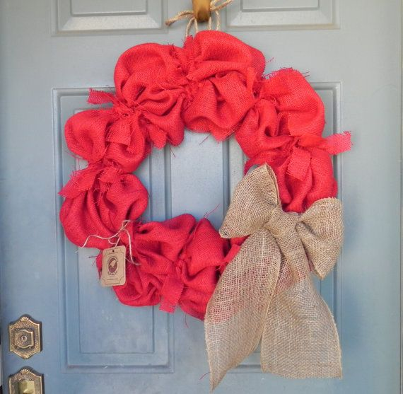 Burlap Bubble Wreath X- Large  24 with Large Bow - many colors and sizes available