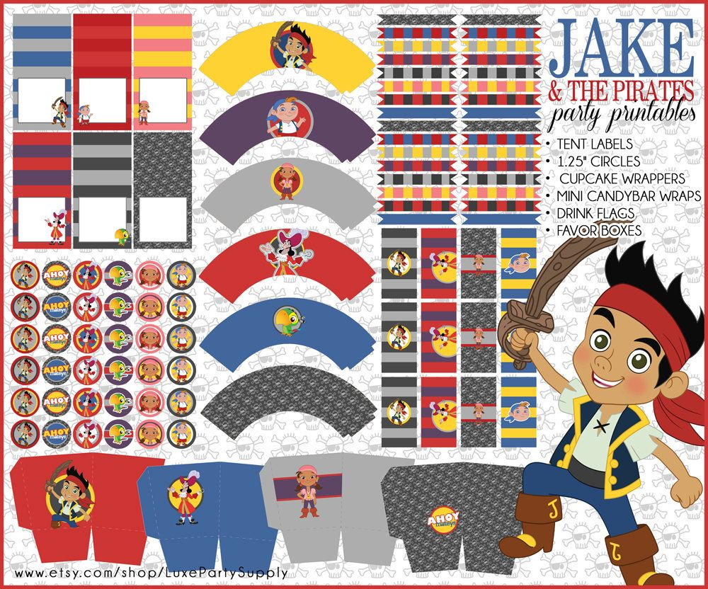 DIY PDF Printable Jake and the Neverland by LuxePartySupply ...