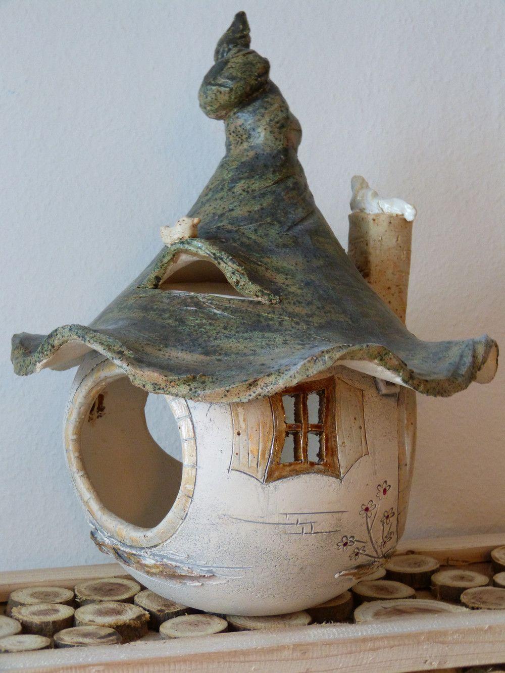 Keramik - VOGELHAUS FUTTERHAUS - Keramik - Design: VERSPIELT - ein Designerstück von Creaktiv-Keramikwerkstatt bei DaWanda #birdhouses