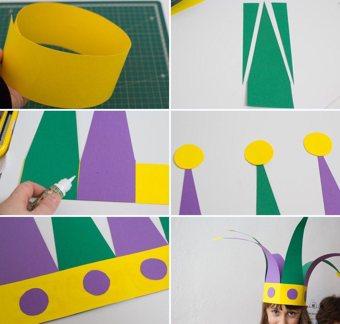 como hacer un gorro de arlequin Sombreros De Carnaval fc0d658bade