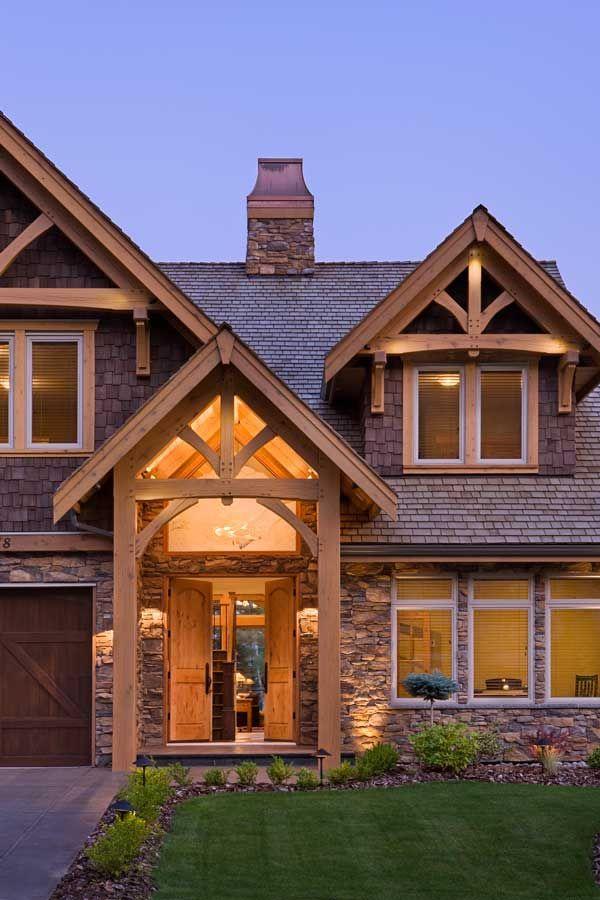 Compact Hybrid Timber Frame Home Design + Photos - Timber Home ...