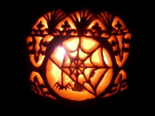 Creative spooky pumpkin carving ideas spider webs