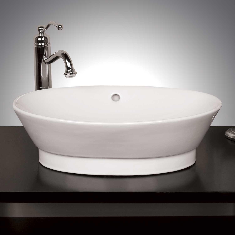 Riona Oval Vessel Sink White Amazon Com 135 Vessel Sink Vessel Sink Bathroom Sink