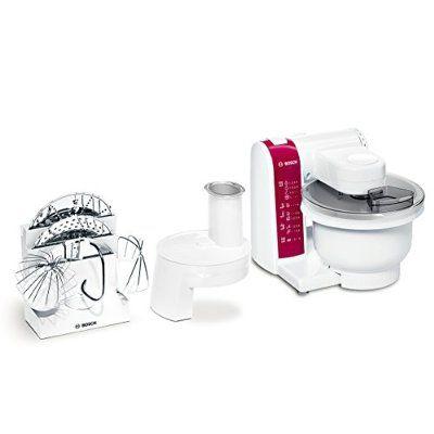Bosch MUM4825 Küchenmaschine (600 Watt, Kunststoff-Rührschüssel - kitchenaid küchenmaschine artisan rot