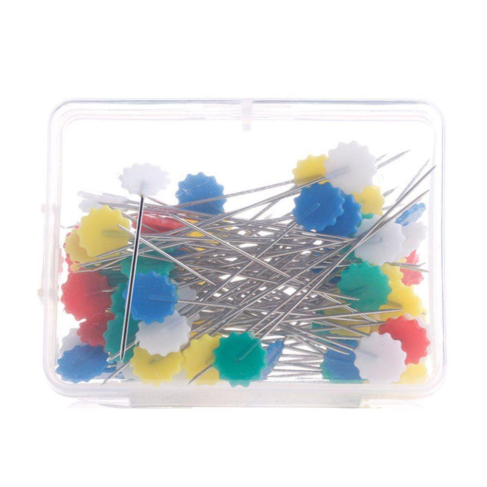 Beauty Clubs 50pcs Patchwork Craft Flower Button Head Pins ... : flower head pins quilting - Adamdwight.com
