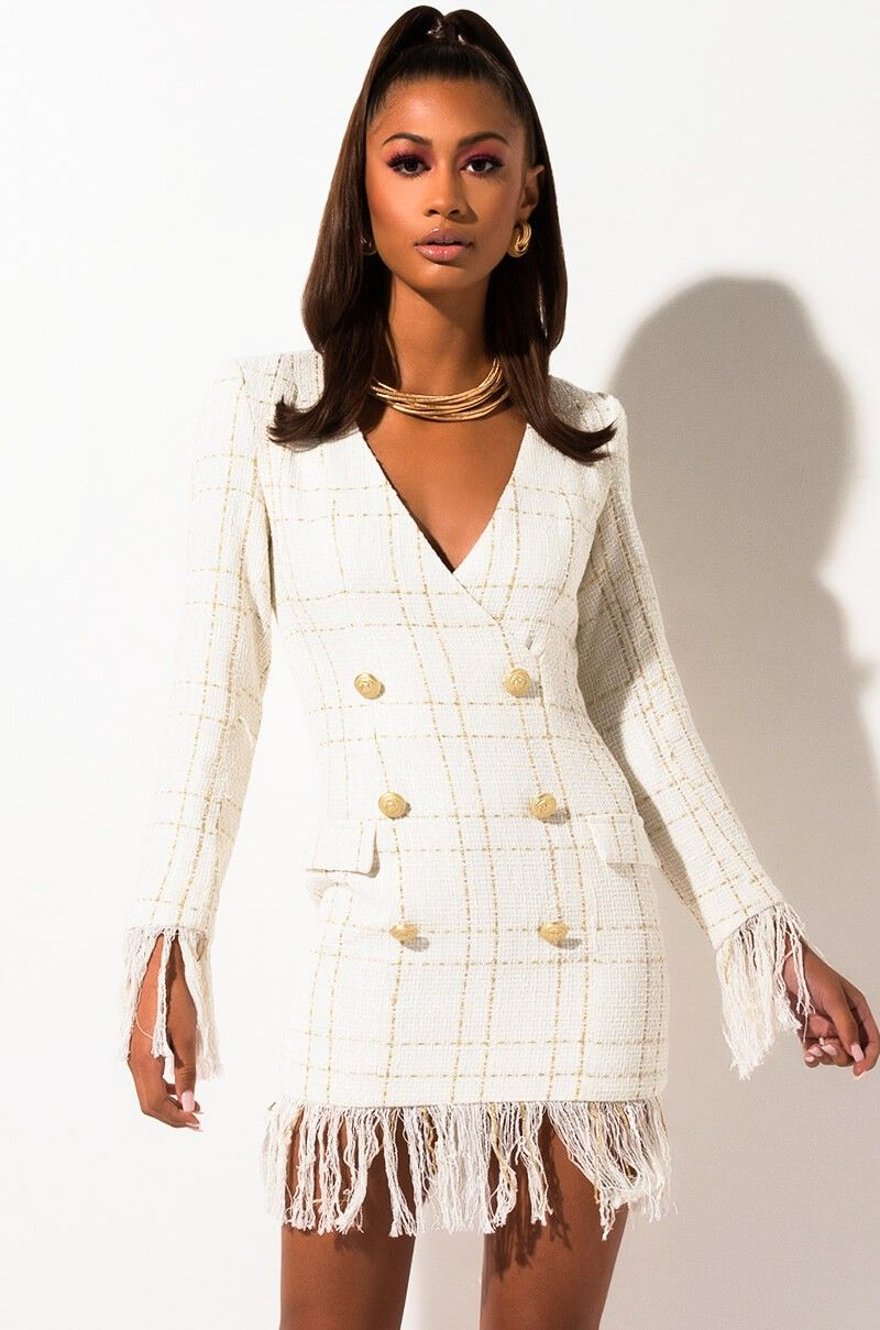 160 Front View Worth It Fringe Blazer Dress In White Dresses Blazer Dress Blazer Outfits For Women [ 1209 x 800 Pixel ]