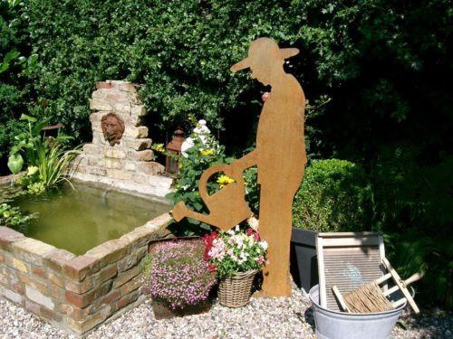 Gartendeko Gartner Metall Bauerngarten Rostig Brunnen Garten Garten Wasser Im Garten