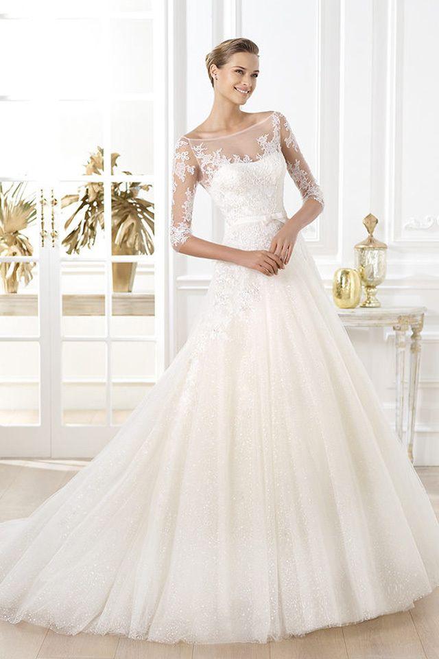 فساتين عروس ناعمه تركيه Wedding Dress Necklines Pronovias Wedding Dress Ball Gowns Wedding